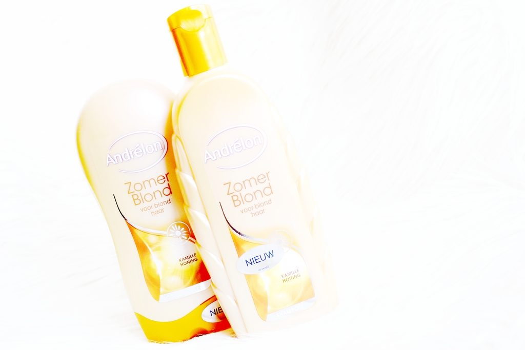flessen andrélon zomerblond shampoo en conditioner