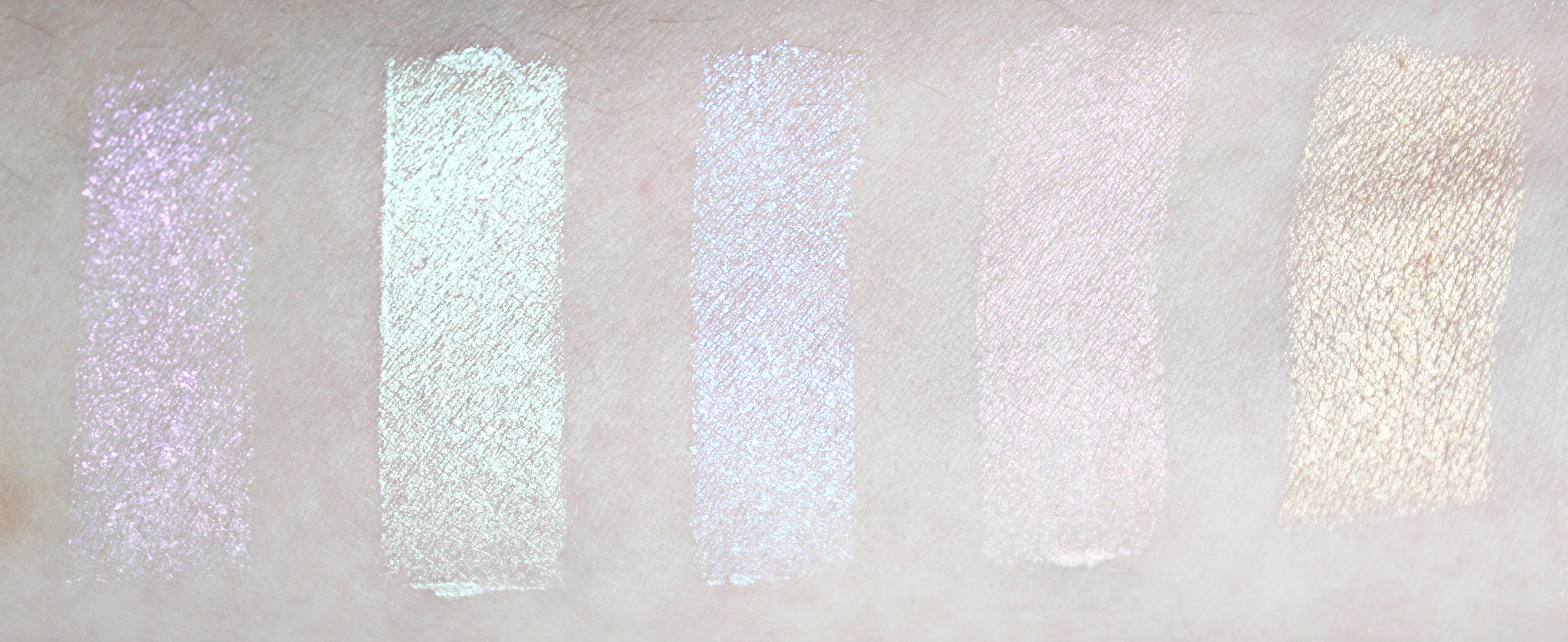 sleek gekleurde highligher swatches