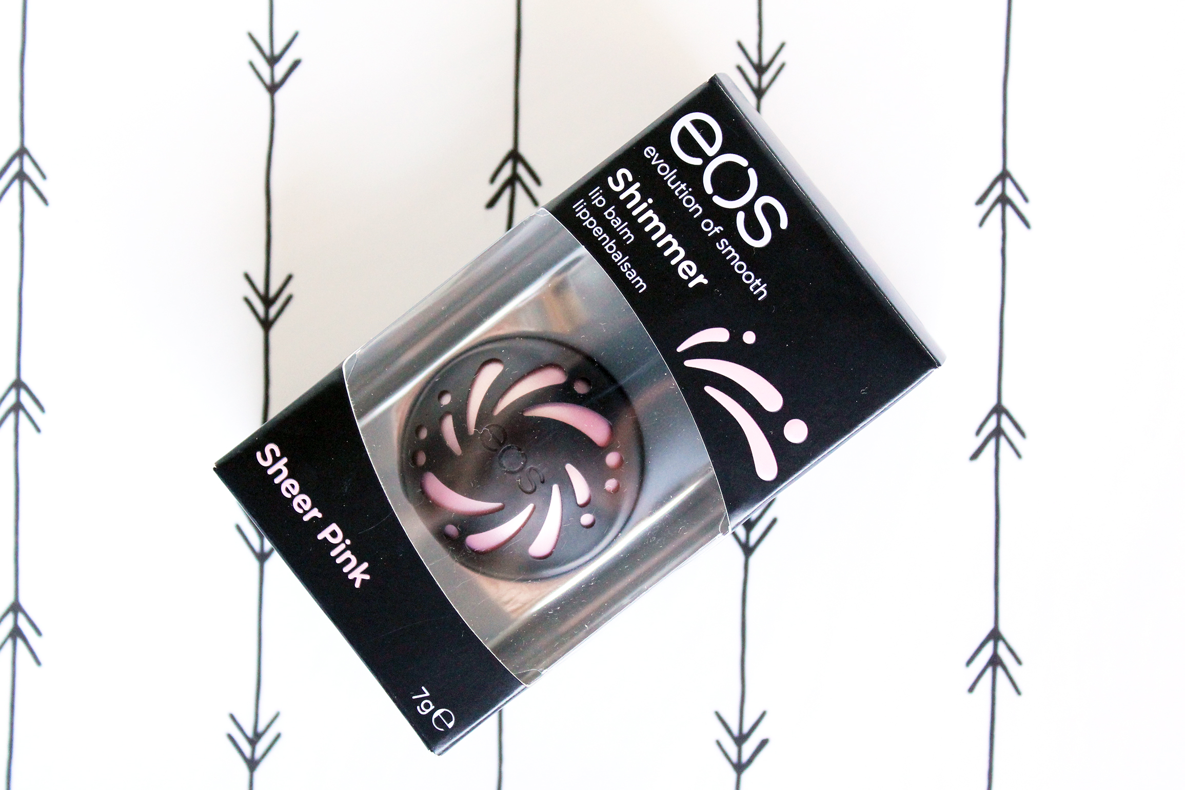eos shimmer lip balm review