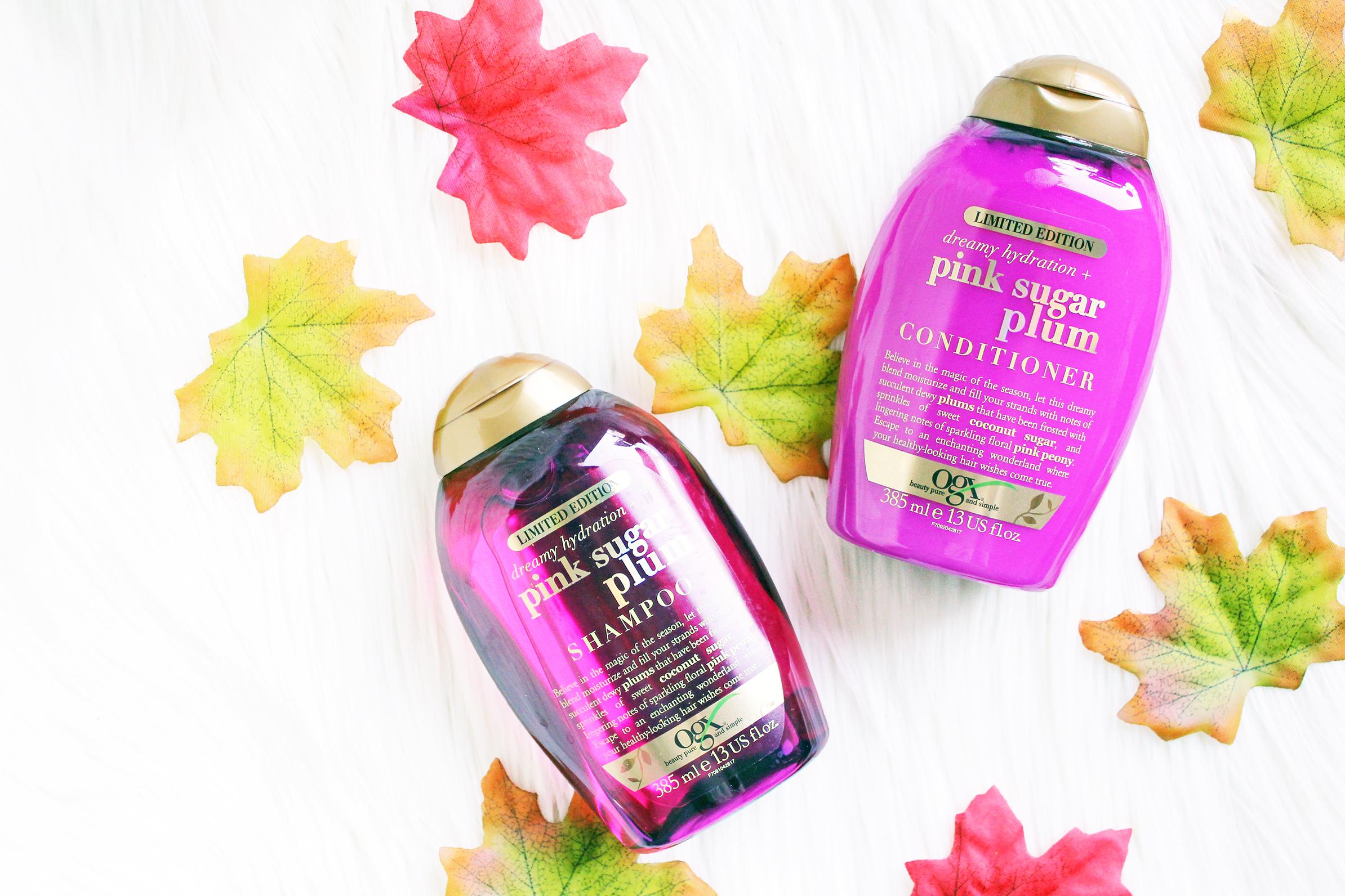 ogx pink sugar plum shampoo en conditioner