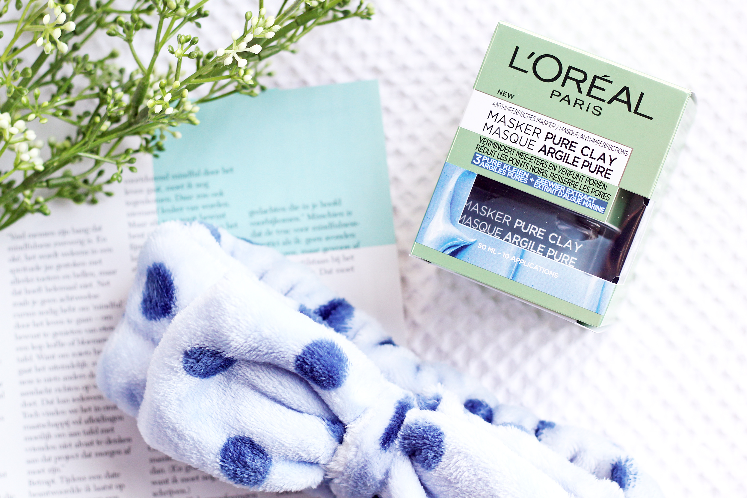 l'oreal pure clay masker blauw