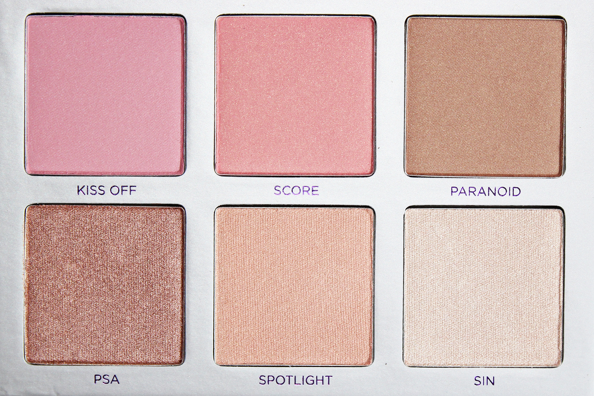 highlighters en blush palette urban decay