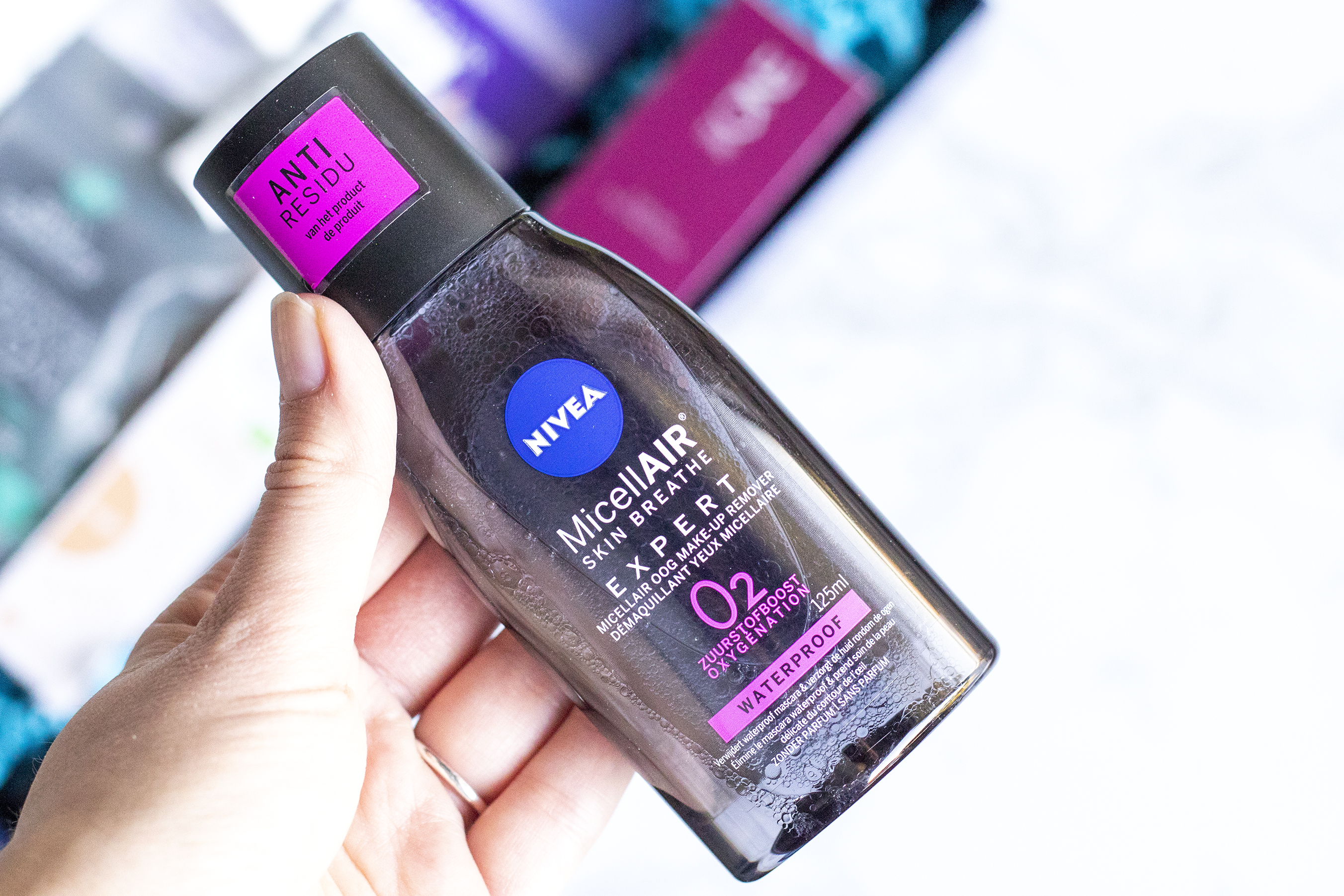 nivea micellair oog make-up remover, blux box unboxing