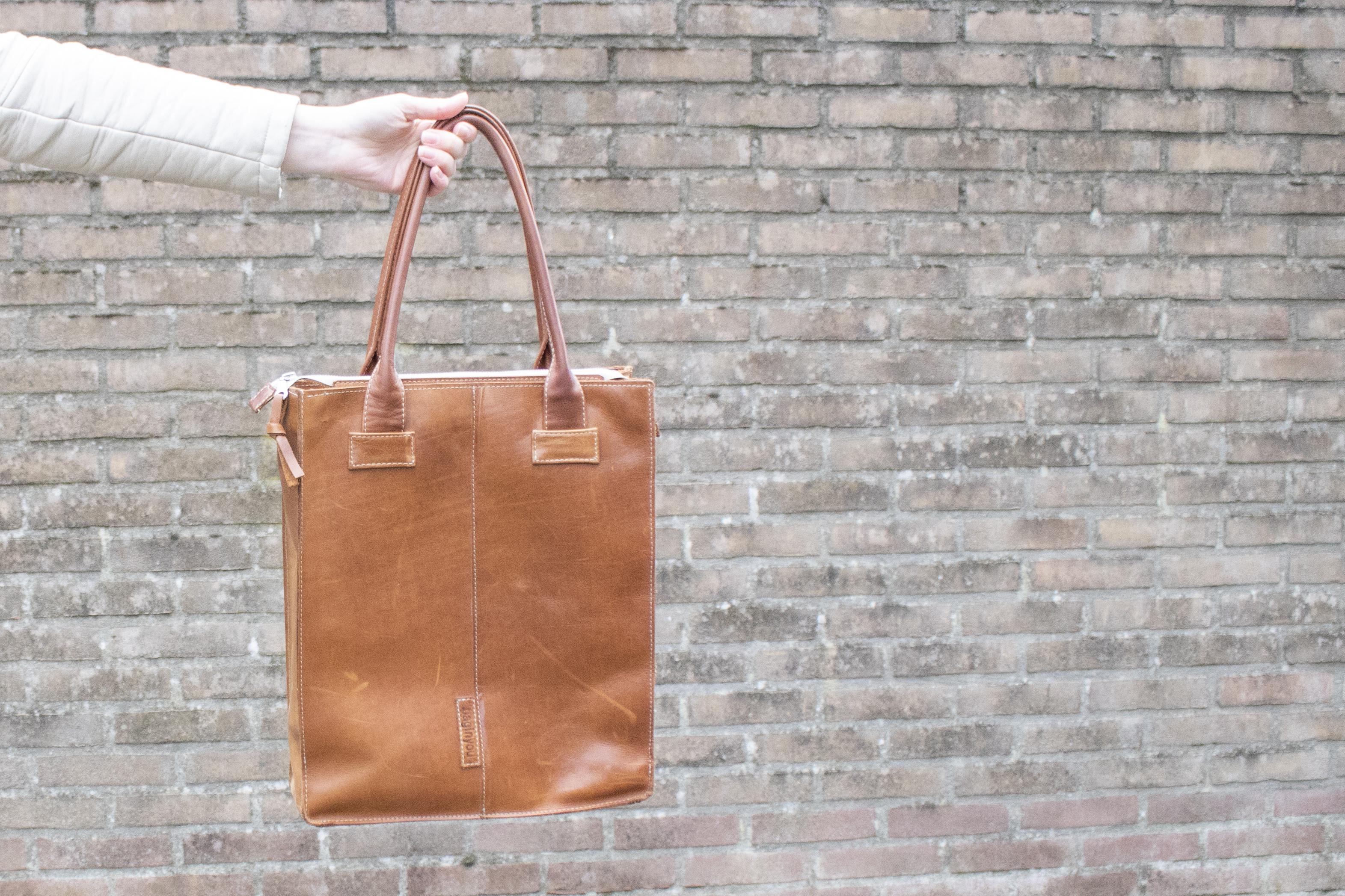 bag in you handgemaakte leren tas