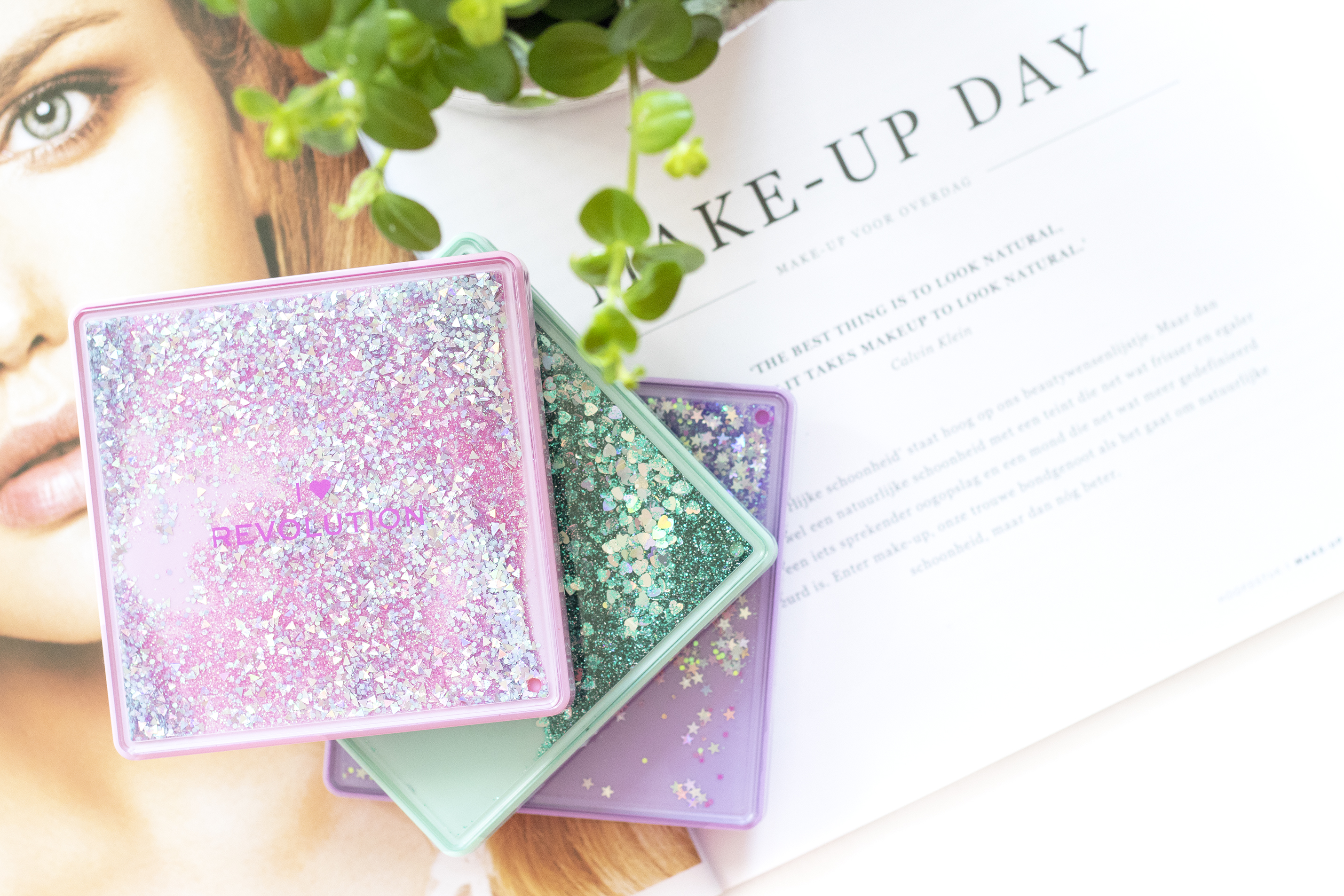 glitter palettes review i heart revolution