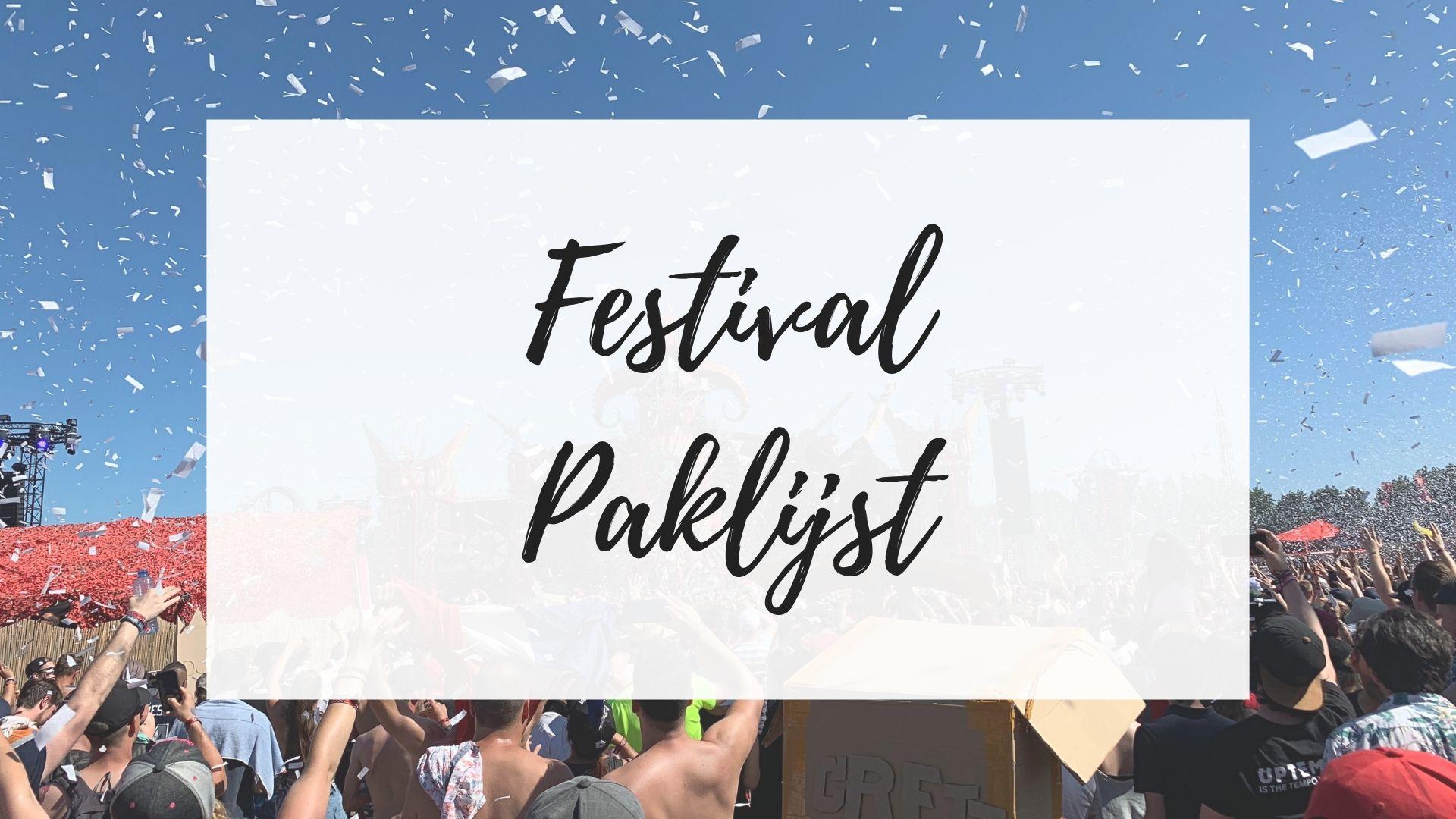 festival paklijst weekend